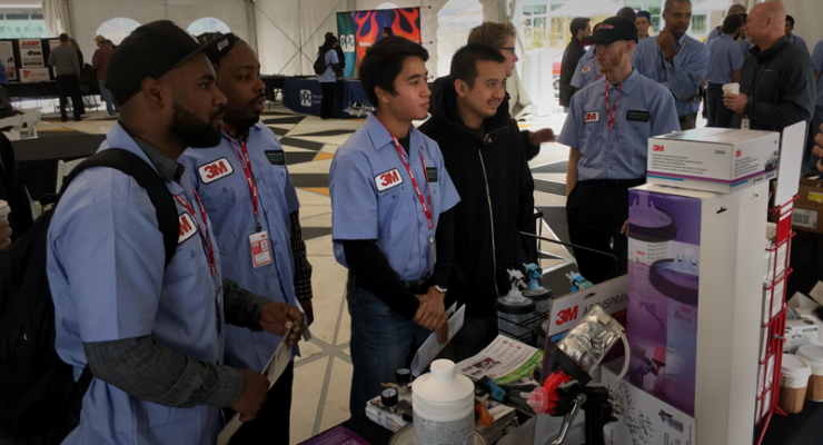 Students studying for a career in the collision repair industry learned about opportunities available to them at a career fair host at 3M Headquarters in St. Paul Minn.