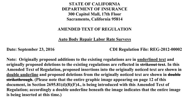 California Insurance Regulation Proposals