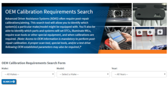 I-CAR Introduces Online OEM Calibration Requirements Search