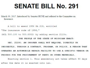 Michigan Senate Bill 291