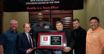 Karl Malone's Body and Paint and Puente Hills Auto Body Earn Toyota Honors