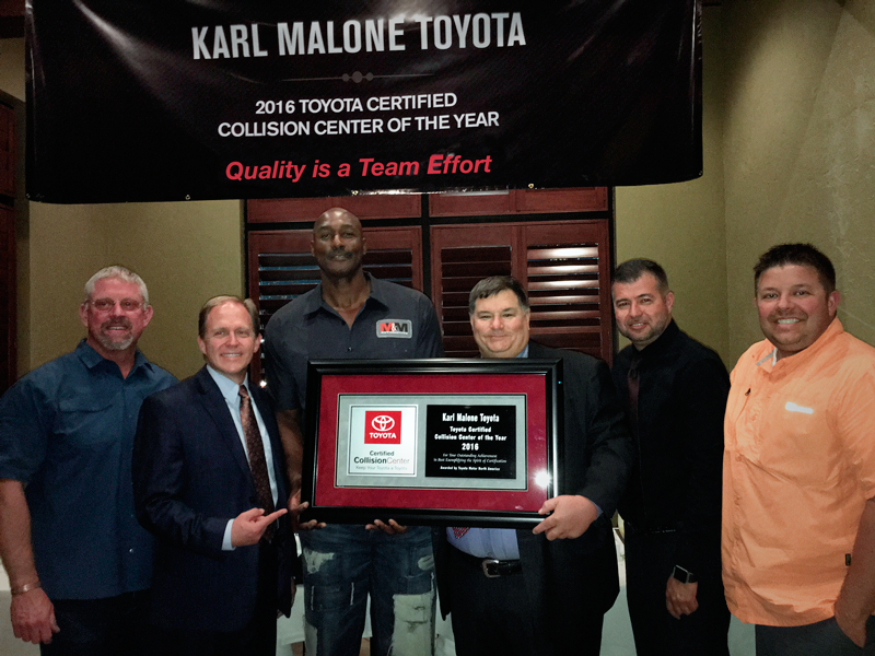 Karl malone s body and paint and puente hills auto body for Crown motors service center