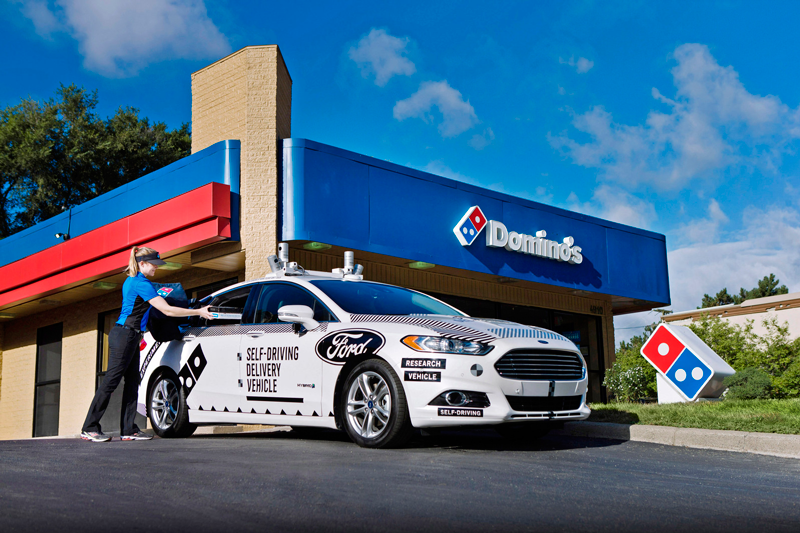 Ford Domino's Self-Driving Delivery Vehicle
