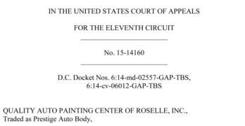 Appeals Court Overturns Dismissal in Collision Repair Shop Lawsuits Against Insurers