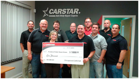 L to R – Paul Licitra - CARSTAR Friendly of Roselle, Dan Bailey – CARSTAR All Line, Teresa Kostick – CARSTAR All Line, Brian Gore - CARSTAR North Aurora, Jim Irmen - CARSTAR Ideal of Arlington Heights, Eric Schmit - CARSTAR Friendly of Roselle, Justin Fisher, CARSTAR Yorkville, Adam Esposito - CARSTAR West-Hill of Hillside, Rob Irmen - CARSTAR Ideal of Arlington Hts., Tony Scola, CARSTAR Scola's