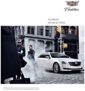 Cadillac has produced a consumer brochure that describes the benefits of using its network for collision repairs to its new CT6. Click on the image above to download the brochure.