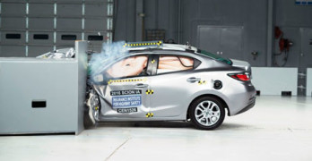 Scion iA Small Overlap Crash Test IIHS