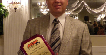 Stan Wilson Body Shop of the Year award winner Anthony Lake of Exclusive Auto Collision in Ramsey, N.J.