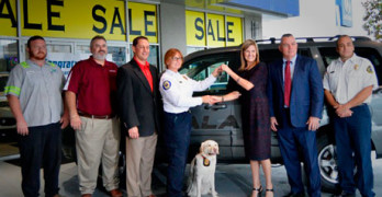 Collision Repairers Provide Recycled Rides to First Responders and K9 Partners