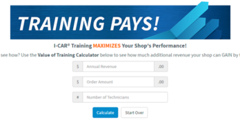 I-CAR Training Pays Calculator