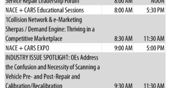 MSO Symposium, Vehicle Scanning and Recalibration, Expo on Tap Today at NACE |CARS