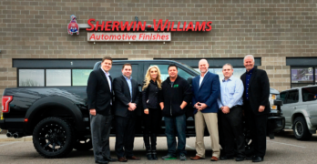 Sherwin-Williams Celebrates its 150th Anniversary by Giving Away F-150 to Collision Repair Shop