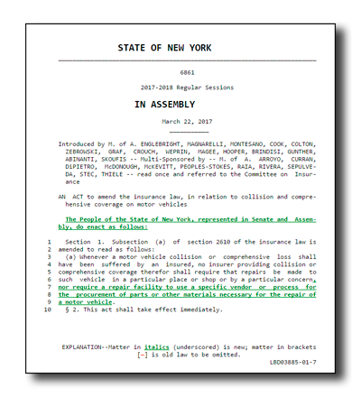 New York State Assembly Bill 6861