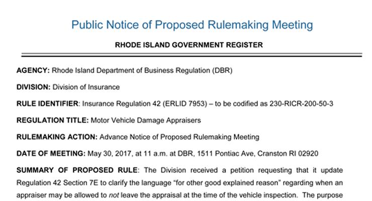 Rhode Island Insurance Regulation
