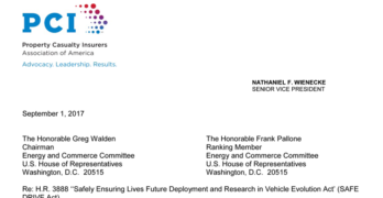 Insurance Association Calls for Improvements to Federal Autonomous Vehicle Legislation