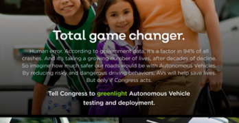 Coalition for Future Mobility Ad Campaign Calls for U.S. Senate to Pass Autonomous Vehicle Legislation