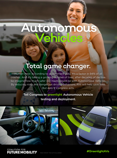 Coalition for Future Mobility Ad Cover