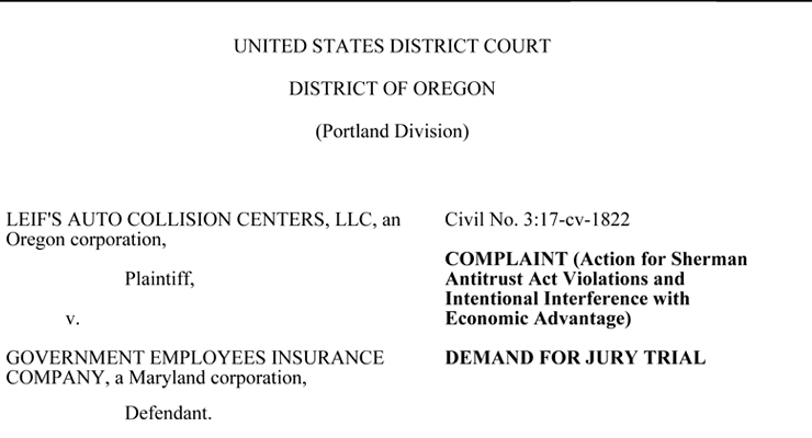 Leif's GEICO Lawsuit