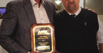 Dobbs Auto Body owner Brad Denning (left) with AASP/NJ Executive Director Charles Bryant.