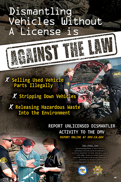 California Dmv Launches Campaign To Combat Unlicensed Vehicle Dismantling Collisionweek
