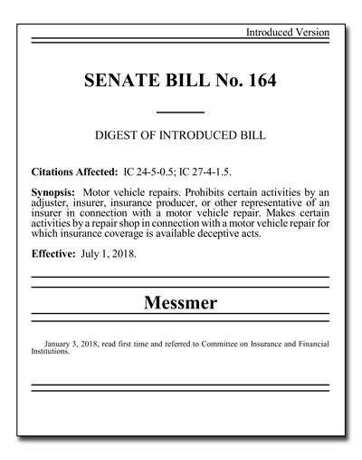 Indiana Senate Bill 164