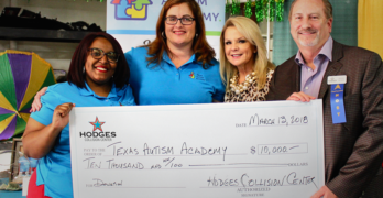 Hodges Collision Center Donates $10,000 to Texas Autism Academy