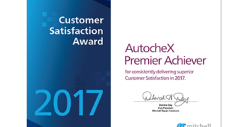 Mitchell Announces 17th Annual AutocheX Premier Achiever Collision Repair Facilities