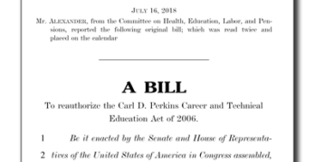 Perkins Act Reauthorization S3217