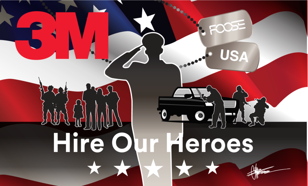 3M Hire Our Heroes Flag