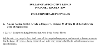 California Collision Repair Regulations