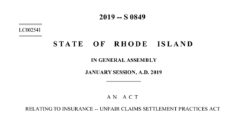 Rhode Island Senate Bills 2019