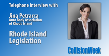 Interview with Jina Petrarca from Auto Body Association of Rhode Island details legislation