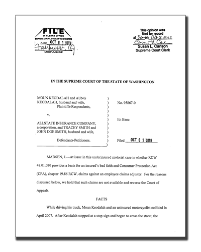 Washington State Supreme Court Ruling
