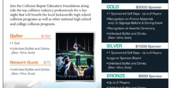 Jacksonville TopGolf Fundraiser flyer