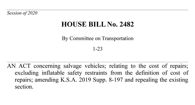 Kansas House Bill 2482
