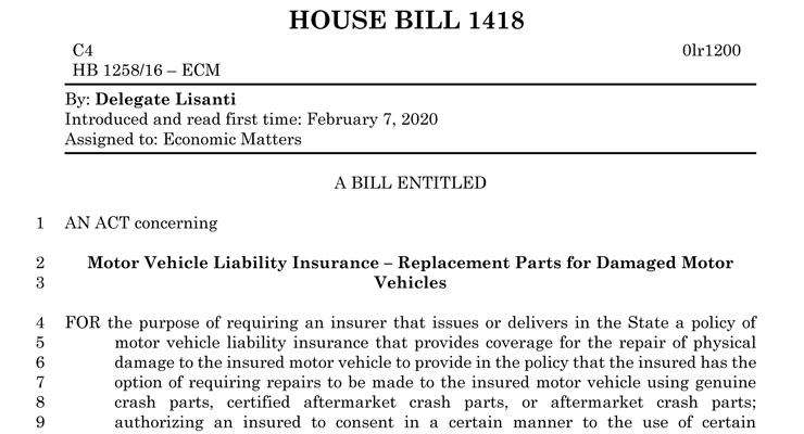 Maryland House Bill 1418