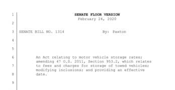 Oklahoma Senate Bill 1314