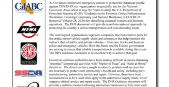 Auto Group Letter to NGA