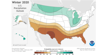 NOAA winter forecast 2020