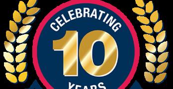 Fix Auto USA 10th Anniversary logo