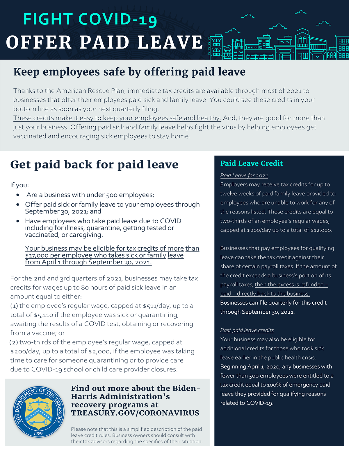 Paid Leave Credit Snapshot