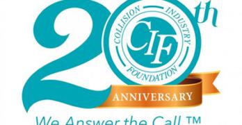 Collision Industry Foundation 20th Anniversary logo