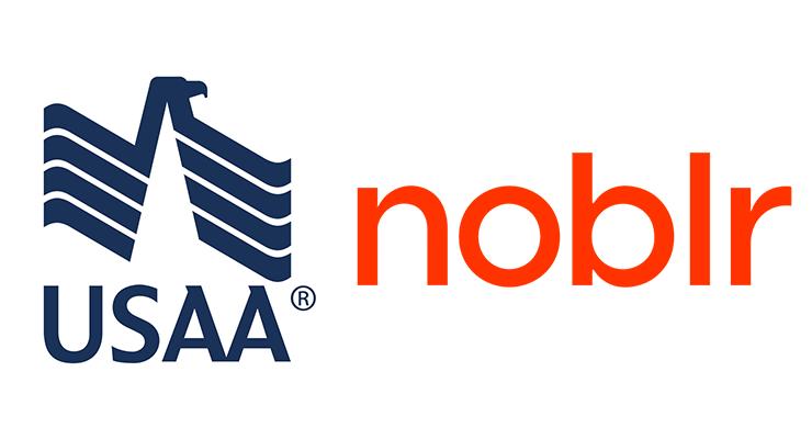 USAA Noblr logos