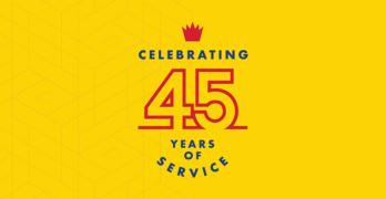 Service King 45th Anniversary Logo
