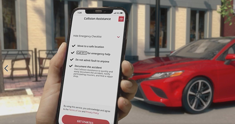 ToyotaDebutsMobileCollision Assistance Service